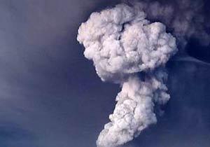 アイスランドの火山爆発