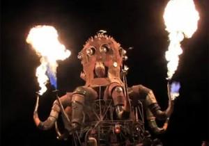 火を噴く機械仕掛けのタコ