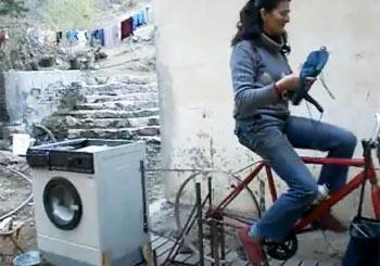 チャリンコ洗濯機