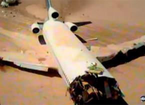 墜落した時の衝撃を検証。旅客機の大規模なクラッシュテスト映像