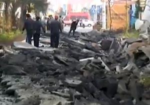 地下爆発で地面崩壊