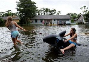 水害を楽しむ人々