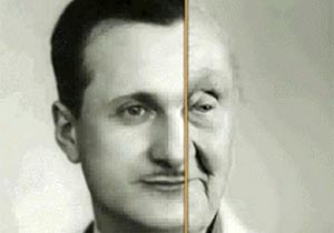 老人と若い頃の比較画像