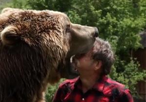 クマに顔面を噛まれるおじさん