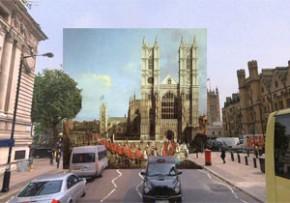 Googleストリートビューに昔の絵画を融合