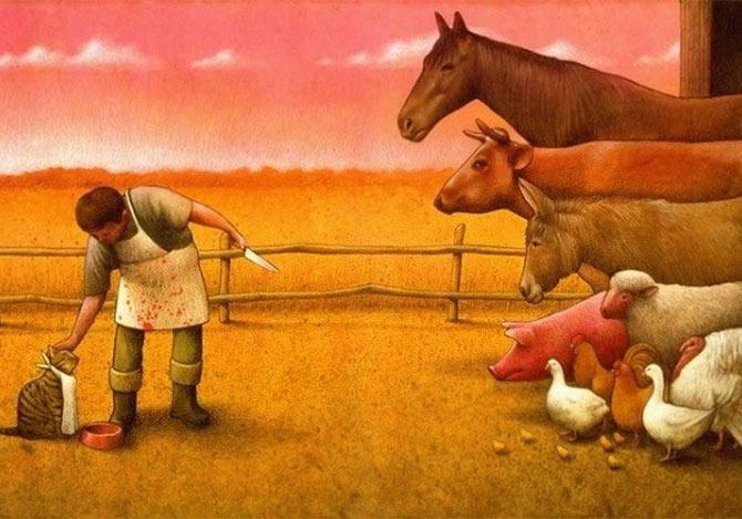 クチンスキの風刺イラスト