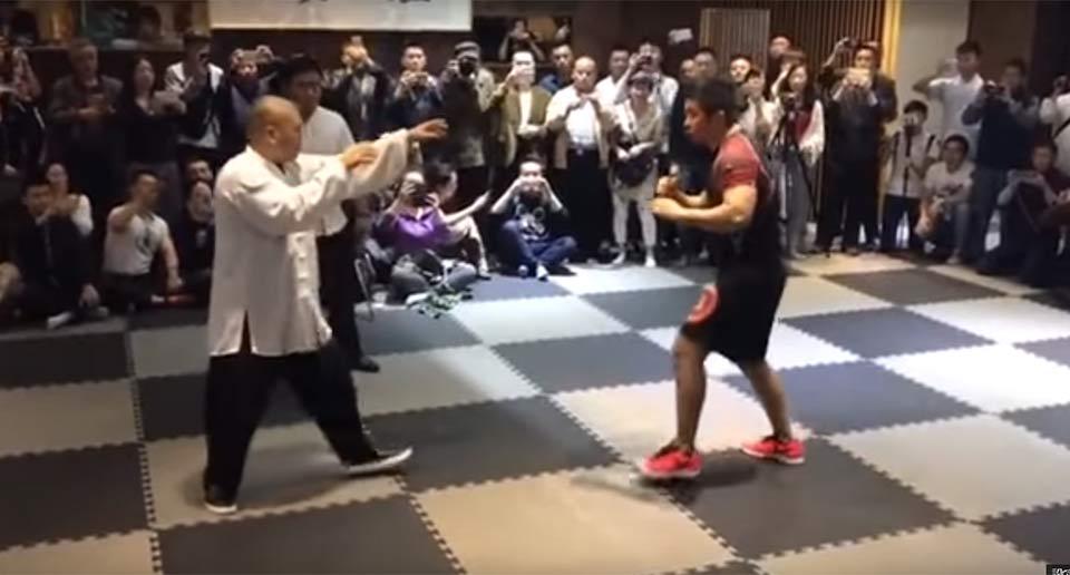 太極拳の達人と格闘家の試合