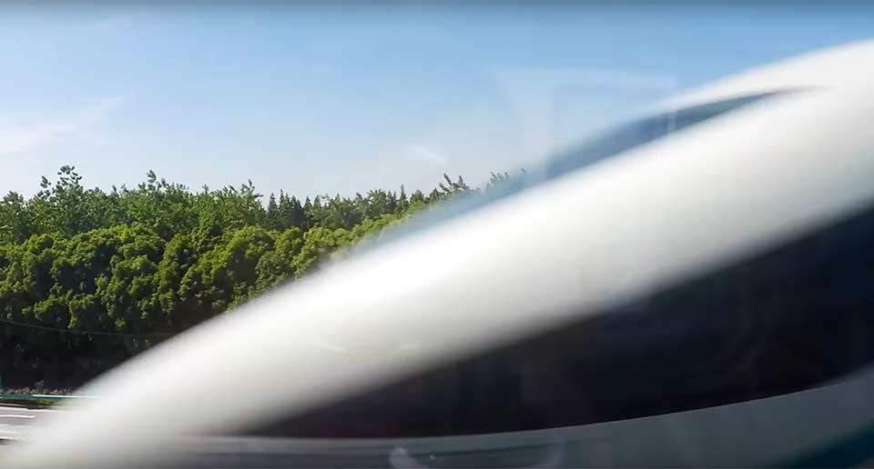 時速430㎞で走る上海のリニアモーターカー