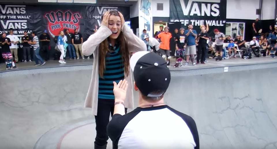 プロスケートボーダーのプロポーズ