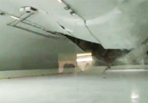 スケートリンクの天井崩落