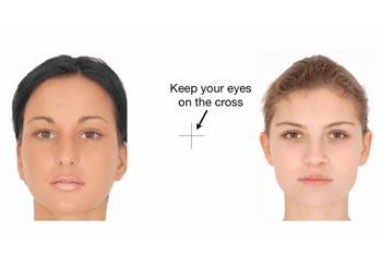 顔面の歪み効果