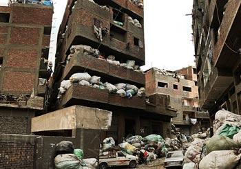 ゴミシティーと化したスラム街