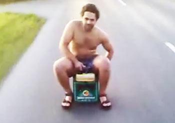 ビール箱スクーター