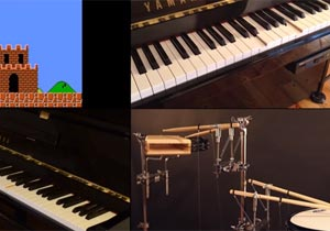 ゲーム音楽をピアノとドラムが演奏