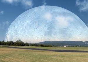 月がISSと同じ距離の場所にあったら