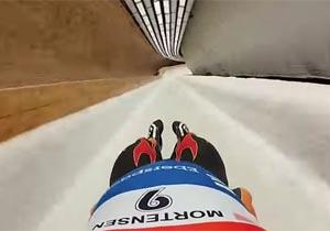 リュージュの選手目線の映像