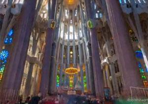 美しいバルセロナのタイムラプス映像