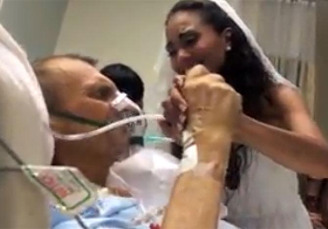 末期がんの父親に贈る結婚式