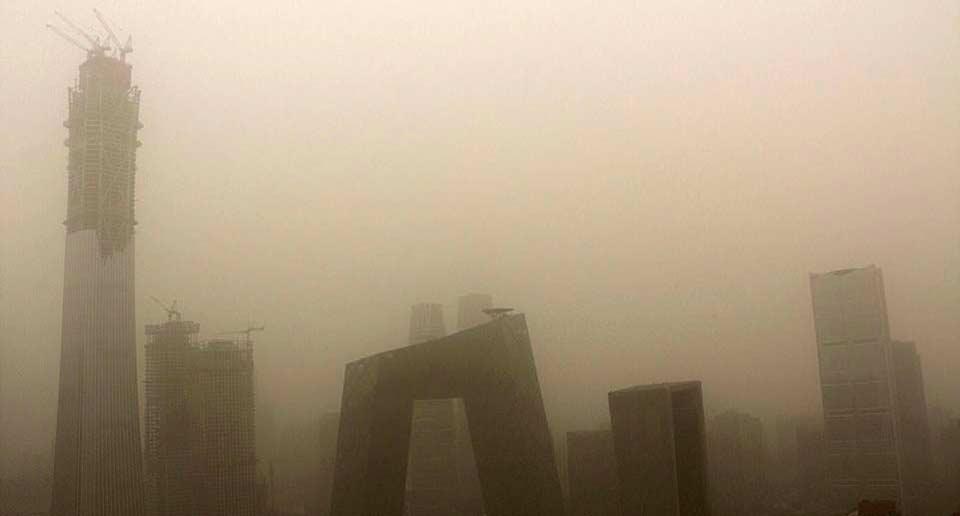 中国北京の大気汚染